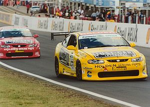 Bathurst 24 Hour - The two Holden Monaro 427Cs competing in the 2003 race. Car 427 (yellow) won in 2002, while car 05 (red) won in 2003.