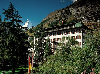 Monte Rosa Hotel - The Monte Rosa with the Matterhorn on the left