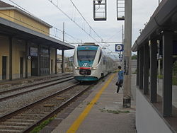 Montecorvino station in Bellizzi