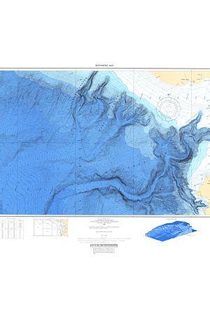 Mapping California - Modern Bathymetric chart of Monterey Canyon.  Courtesy of NOAA.