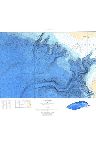 Soquel Canyon State Marine Conservation Area - Bathymetric Chart of Monterey Submarine Canyon