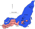 Montreal Island - English and French-speaking-majority Municipalities.png