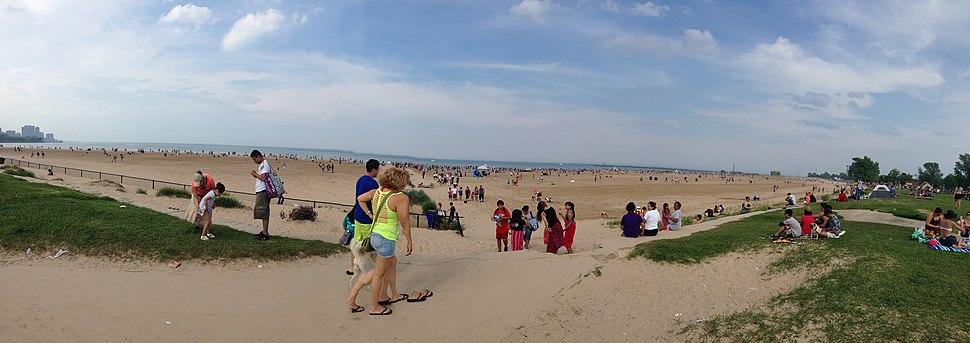 Montrose beach, Chicago 2014