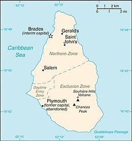 Montserrat - Mappa