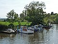 Moorings for small boats, River Frome, Wareham - geograph.org.uk - 1443839.jpg