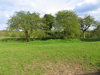 Brooke Priory - Ancient earthworks on the site of Brooke Priory