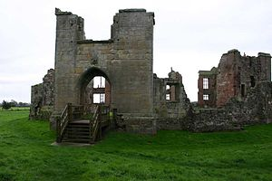Moreton Corbet Castle - sixteenth century gatehouse