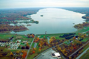 Mosquito Creek Reservoir in Trumbull County, O...