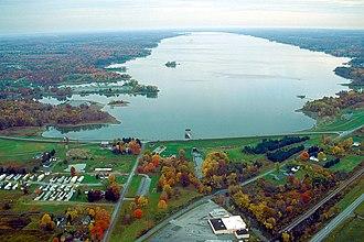Mosquito Creek Lake - Image: Mosquito Creek Reservoir Ohio northward