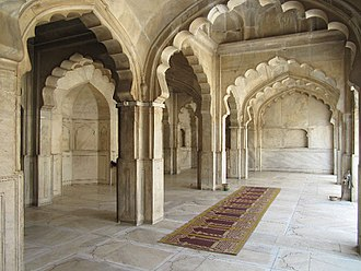 """Moti Masjid (Lahore Fort) - The mosque's white marble earned it the name """"Pearl Mosque"""""""