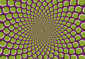 Illusory motion - Image: Motion illusion in star arrangement