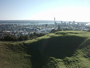 Auckland volcanic field - crater of Maungawhau / Mount Eden