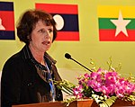 Ms. Lorraine Hariton, Special Representative for Commercial and Business Affairs, U.S. Department of State, gives remarks at the Lower Mekong Initiative Infrastructure Best Practices Exchange in Hanoi (8378370113).jpg