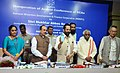 Mukhtar Abbas Naqvi launching the Mobile app of NMDFC, at the inauguration of the Annual Conference of State Channelising Agency (SCAs) of National Minority Development and Finance Corporation (NMDFC), in Hyderabad.jpg
