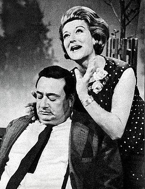 Francesco Mulé - Mulè with actress Lia Zoppelli (1963)