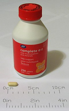 Multivitamins complete a to z, 250 tablets (click to embiggen)
