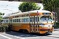 Muni 1075 turning at Stockton Street, June 2016.jpg