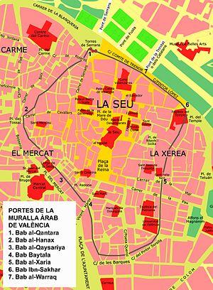 La muralla andalusina de València