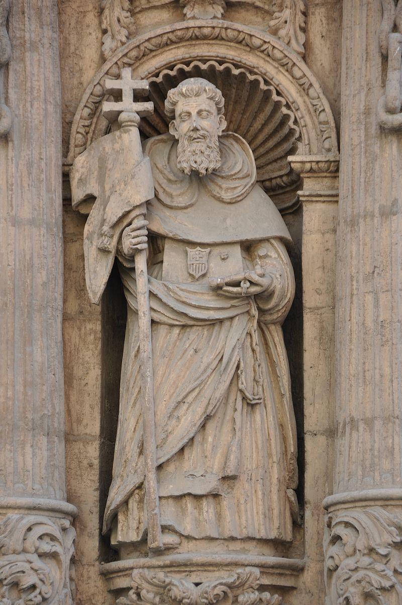 Murcia.Façana de l' Església conventual de La Merced. Sant Pere Nolasc.jpg