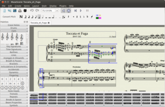 MuseScore - MuseScore 1.2 running on Ubuntu