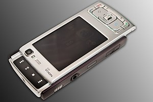 Nokia N95 - The N95's dedicated multimedia keys are accessed via the 2-way slider