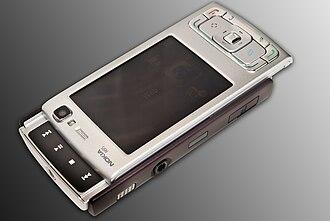Nokia N95 - The N95's dedicated multimedia keys are accessed via the 2-way slider