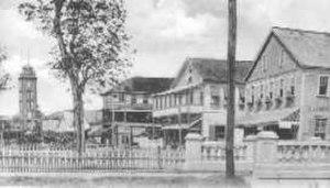New Amsterdam, Guyana - View of The Strand (1920s)