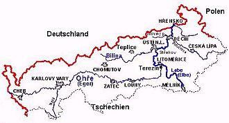 North Bohemia - Towns and rivers of North Bohemia
