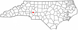 Kannapolis, North Carolina - Image: NC Map doton Kannapolis