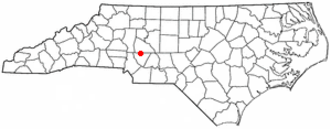 Kannapolis, North Carolina - Image: NC Map doton Kannapolis
