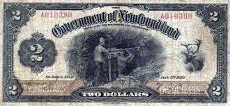 Newfoundland dollar - Treasury $2 note