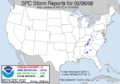 NOAA weather reports for February 6, 2008.png