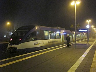 Transdev Germany - Nord-Ostsee-Bahn Bombardier Talent at Husum station