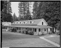 NORTH FRONT AND EAST SIDE - Wawona Hotel, Long White, Wawona, Mariposa County, CA HABS CAL,22-WAWO,1-A-1.tif