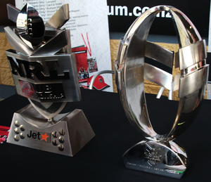 New Zealand Warriors - The Club Championship (left) and the Toyota Cup (right), both won in 2010