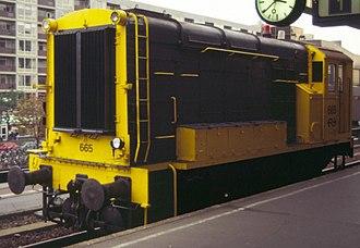 NS Class 600 - 655 at Platform 1, Leiden station 14 October 1990.
