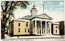 Postcard. Historic Edgecombe County Courthouse in Tarboro, North Carolina.