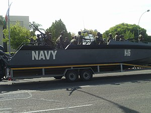 Namibian Defence Force - Marines on an interceptor