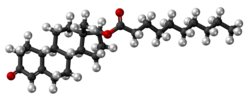 Nandrolone decanoate molecule ball.png