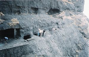 Naneghat - The Naneghat cave in which the inscriptions are found.