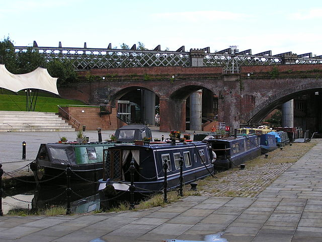 Canal basin in Castlefield, Manchester