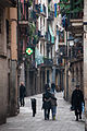 Narrow streets of Barcelona, Catalonia, Spain.jpg