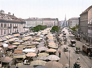Naschmarkt - The Naschmarkt around 1900