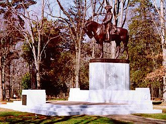 Guilford Courthouse National Military Park - Nathanael Greene statue at Guilford Courthouse National Military Park