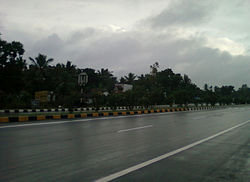 National Highway at Kasimkota