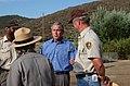 National Park Service Director Fran Mainella, foreground center, with President George Bush and Rancho Sierra Vista Nursery volunteer coordinator Ralph Waycott behind, second left t - DPLA - 457be8d2813c60e74dc17ef478f5d3a1.jpg