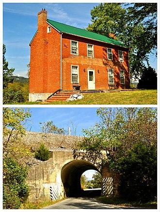 New Ellett, Virginia - National Register of Historic Places at New Ellett, Virginia