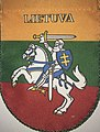 National coats of arm of Lithuania on its national flag.jpg