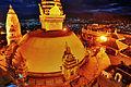 Nepal Kathmandu Swayambhunath Night Swayambhunath 1 (full res).jpg