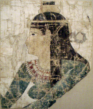 The painted image of the goddess Nephthys from...